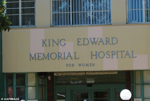 The young girl went into labour at a Perth home, where the baby was delivered, before she was transferred to King Edward Memorial Hospital (pictured) with her healthy child earlier this month
