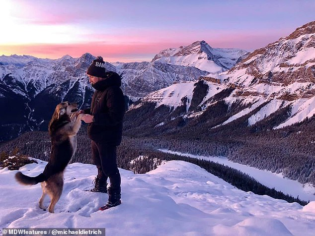 Picture perfect views: Michael and BearBear have more than 17,000 Instagram followers
