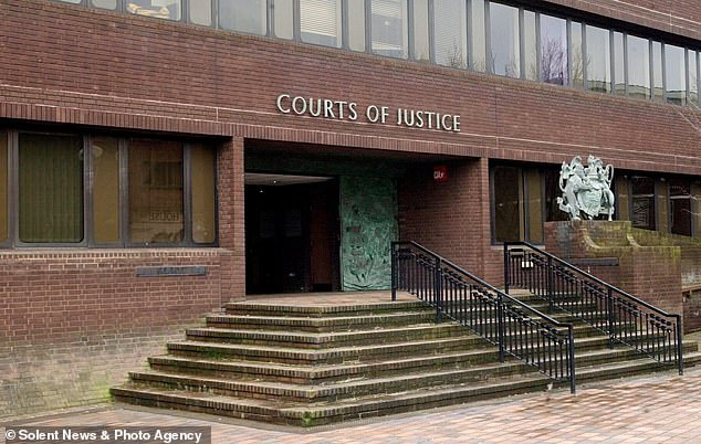 Luff knifed Mr Birch with a blade over and over two weeks after seeing him kiss his ex-girlfriend Chantelle Price in a Facebook Live video, Portsmouth Crown Court (pictured) heard