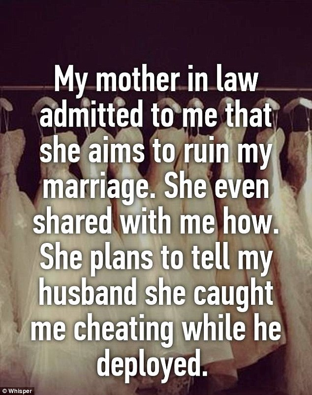 Another woman said her mother had admitted she had a plan to ruin her marriage.