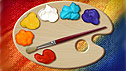 An art brush and palette