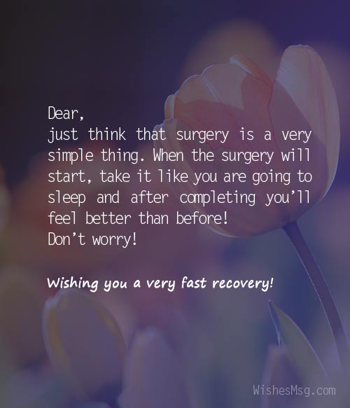 before surgery wishes messages